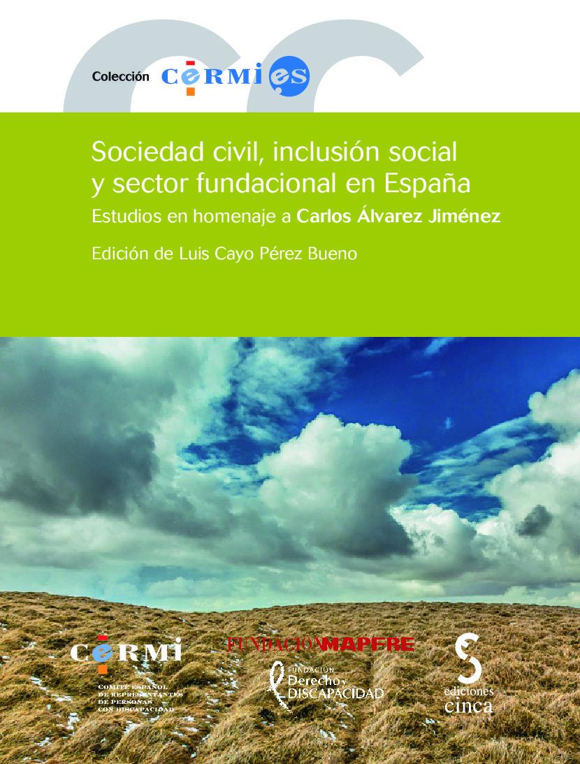 Portada del libro: Sociedad civil, inclusión social y sector fundacional en España